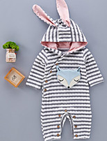 Baby Stripe One-Pieces,Cotton Spring Fall Long Sleeve