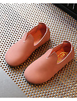 Girls' Flats Comfort Spring Leatherette Casual Brown Green Blushing Pink Flat