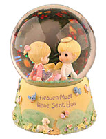 Music Box Round Crystal