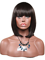 Short Brown Straight Natural Wigs for Women Costume Cosplay Synthetic Wigs