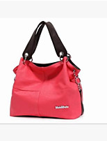 Women Shoulder Bag PU All Seasons Round Zipper Blushing Pink Red Black