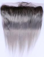Beata hair 1b серые прямые волосы кружевные передние ombre бразильские волосы 13x4 кружево переднее закрытие 100% нет remy человеческих