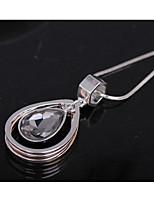 Жен. Ожерелья с подвесками Свисающие Хрусталь Сплав Мода Бижутерия Назначение Свадьба Для вечеринок День рождения Повседневные