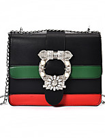 Women Bags All Seasons PU Shoulder Bag with for Wedding Event/Party Casual Formal Office & Career White Black Red