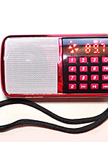 SP240 Radio portatil Reproductor MP3 Tarjeta TFWorld ReceiverRojo