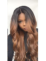 Ombre T1B/30 Boby Wave Style Glueless Lace Front Wigs With Baby Hair 100% Brazilian Virgin Hair Wigs for Black Woman