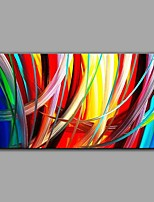 Hand-Painted Abstract One Panel Canvas Oil Painting For Home Decoration With Stretcher Frame Ready To Hang