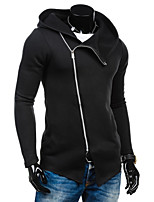 Men's Sports Holiday Casual/Daily Simple Hoodie Color Block Patchwork Hooded Micro-elastic Polyester Long Sleeve Spring Fall Winter