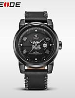 WEIDE Муж. Нарядные часы Модные часы Японский Кварцевый Защита от влаги Натуральная кожа Группа Cool Повседневная Люкс Черный