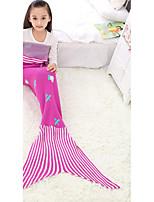 Tricotado Xadrez/Quadrados Acrílico / Algodão cobertores
