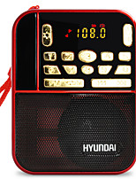 H1 Radio portatil Reproductor MP3 Tarjeta SDWorld ReceiverRojo