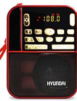 H1 Rádio portátil Player MP3 Cartão SDWorld ReceiverVermelho