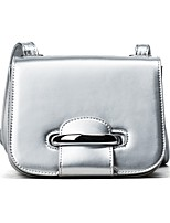 Women Bags All Seasons PU Shoulder Bag with Zipper for Casual Outdoor Office & Career Black Silver