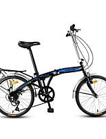 Folding Bike Cycling 7 Speed 20 Inch YINXING V Brake Non-Damping Steel Frame Carbon Folding Ordinary/Standard Anti-slip Aluminium