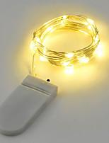 2w cordes lumières 200 lm batterie v 2 m 20 leds blanc chaud blanc rgb rouge jaune bleu vert