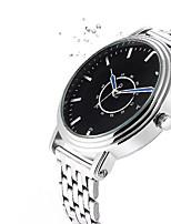 YAZOLE Hombre Reloj de Vestir Reloj de Pulsera Reloj Casual Chino Cuarzo Aleación Banda Casual Plata