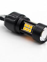 2x янтарь / желтый t25 3157 canbus без ошибок 21smd 3030 led резервная запасная лампа