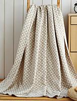 Flannel Plaid/Checkered Cotton Blend Blankets