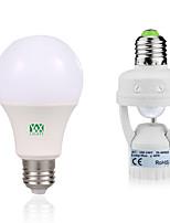 12W Lâmpada Redonda LED 24 SMD 2835 1050-1250 lm Branco Quente Branco Decorativa Sensor do corpo humano V 1Set E27