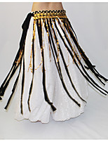 Danza del Vientre Pañuelos de Cadera para Danza del Vientre Mujer Actuación Poliéster Metal Recortado 1 PiezaBufanda Hip y cinta de Danza