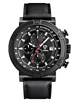 Men's Military Watch Wrist watch Quartz Calendar Silicone Band Black