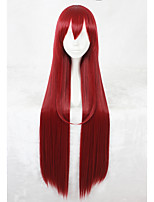 40inch Long Straight Steins Gate Makise Kurisu Wig Red Synthetic Anime Cosplay Wigs CS-334B