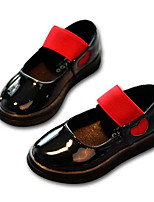 Girls' Flats Comfort Spring Fall PU Casual Red Black Flat