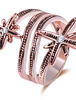 Couple Rings  Band Rings Women's Fashion Luxury Elegant Flower Rose Gold Style Jewelry For Party Wedding Daily