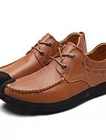 Для мужчин Туфли на шнуровке Удобная обувь Весна Осень Зима Наппа Leather Повседневные Для вечеринки / ужина Черный Темно-русый На
