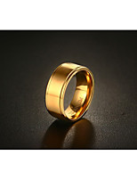 Men's Ring Fashion Vintage Simple  Titanium Steel 18K gold Ring Jewelry For Wedding Anniversary Party/Evening Engagement Daily
