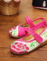 Girls' Flats Comfort Fabric Summer Casual Comfort Ruby Fuchsia Flat