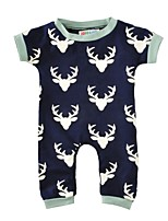 Baby Print One-Pieces Cotton Spring/Fall Summer Short Sleeve Reindeer Romper Newborn Baby Boys Jumpsuits Bodysuits for Kids Clothes