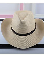 Women's Linen Straw Hat,Party Casual Patchwork All Seasons