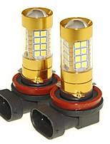 Sencart 2pcs h11 pgj19-1 lampadina lampeggiante ha portato la coda di coda dell'automobile che indica le lampade della lampadina (bianco /