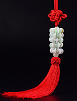 DIY Automotive Pendants Car Decoration Chinese Style Fashion Fortune Red Tassel Car Pendant & Ornaments Jade