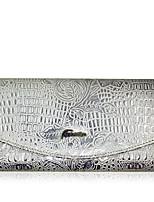 жен. Обложка для чековой книжки Яловка Все сезоны Повседневные Магнит Серебряный