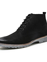 Men's Oxford Comfort Winter Suede Casual Dark Brown Black Flat