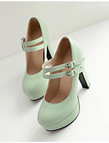 Women's Shoes PU Spring Comfort Heels For Casual Beige Purple Light Pink Light Green