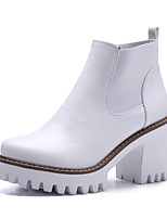 Women's Boots Comfort Fashion Boots Fall Winter Real Leather PU Casual White Black Brown Flat