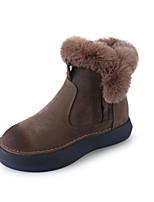 Damen Stiefel Komfort Modische Stiefel Wildleder Herbst Winter Kleid Walking Flacher Absatz Schwarz Grün Kamel Flach