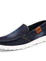 Herren Loafers & Slip-Ons Komfort Frühling Herbst Denim Jeans Normal Flacher Absatz Schwarz Dunkelblau Grau Flach