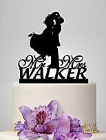 Personalized Acrylic Romantic Kiss Wedding Cake Topper