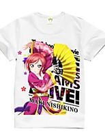 Inspiré par Aime la vie Cosplay Manga Costumes de Cosplay Cosplay T-shirt Dessin-Animé Manches Courtes Haut Pour Unisexe