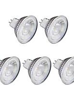 6W Spot LED MR16 1 COB 1 lm Blanc Chaud Blanc Froid 220 V 5 pièces GU10