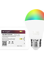 E27 6W 2.4 GHz RGB Warm White Stepless Dimming Phone Wifi Remote Control Smart Bulb AC86-265V with WiFi Controller