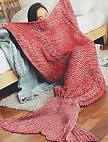 Knitted Stripe Wool Blankets