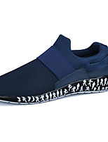 Men's Sneakers Moccasin Spring Fall Tulle Casual Outdoor Flat Heel Black Ruby Blue 3in-3 3/4in
