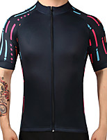 Cycling Jersey Men's Short Sleeves Bike Jersey Quick Dry Breathability 100% Polyester Summer Mountain Cycling Road Cycling Recreational