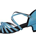 Femme Latines Soie Talons Spectacle Boucle Talon Personnalisé Bleu Personnalisables