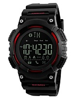 Men's Sport Watch Digital Watch Digital Calendar Water Resistant / Water Proof Stopwatch Noctilucent PU Band Black